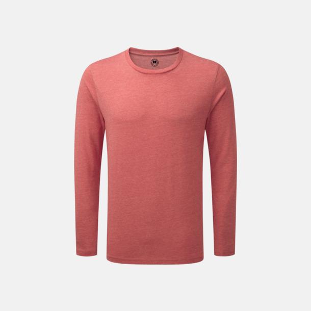 Red Marl (herr) Färgstarka långärms t-shirts i herr-, dam och barnmodell