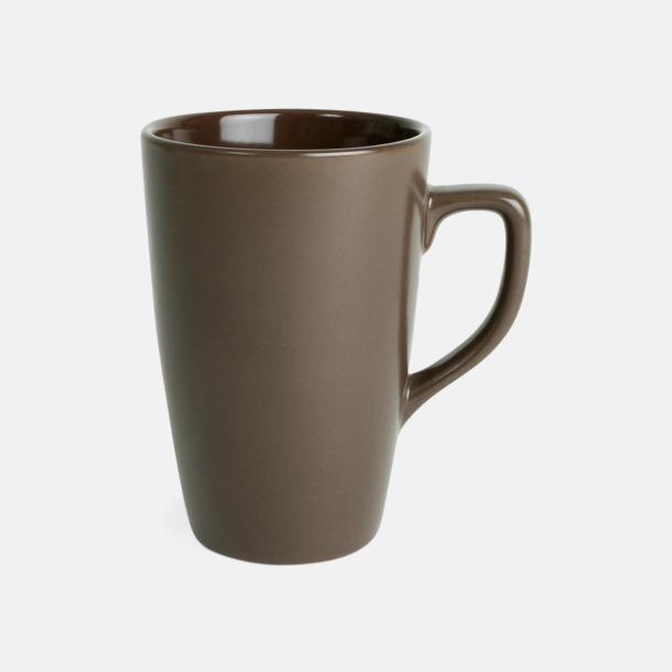 Brun Klassiska kaffemuggar med eget tryck