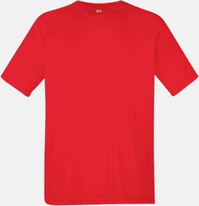 Röd (herr) Funktionströjor för herr, dam och barn - med reklamtryck
