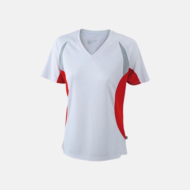 Vit/Röd/Reflex Flerfärgade funktionströjor med eget tryck