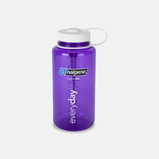 Lila / Vit Färgglada vattenflaskor med eget tryck