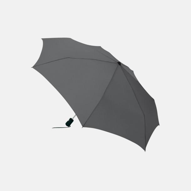Grå Basildon kompakt - små paraplyer med reklamtryck