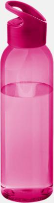 Rosa/Transparent rosa Bärvänliga vattenflaskor i tritan med reklamtryck
