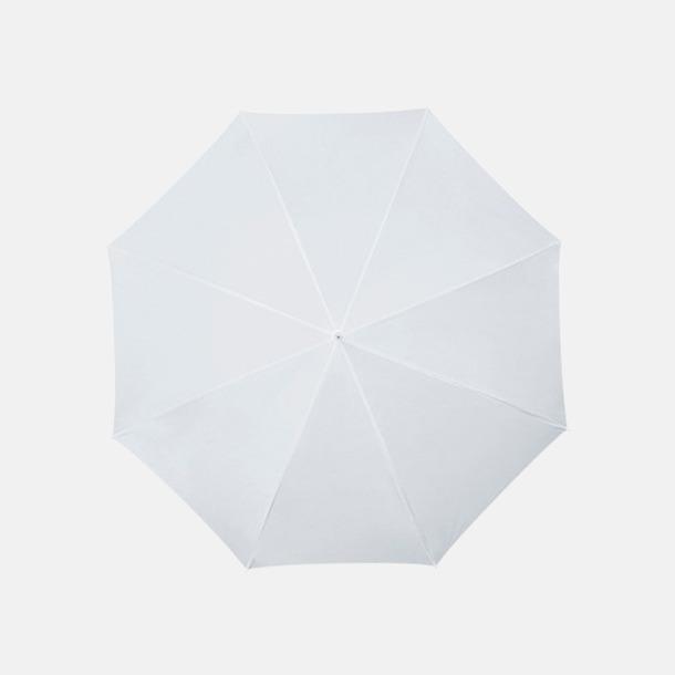 Vit Golfparaplyer med aluminium skaft - med reklamtryck