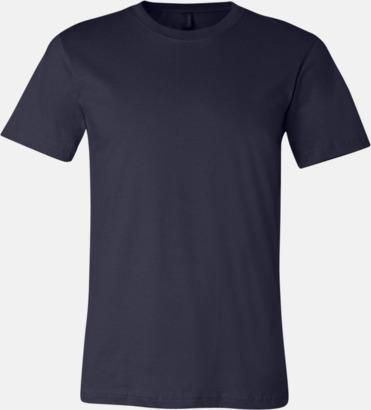 Navy T-shirts för herr och dam - med reklamtryck