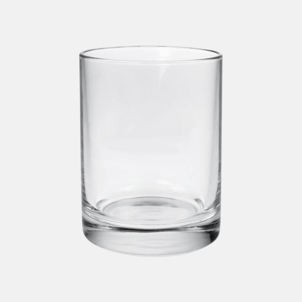Transparent Stapelbara cylinerglas med reklamtryck