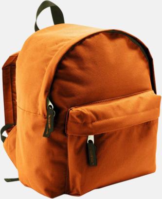 Orange Juniorryggsäckar med reklamtryck