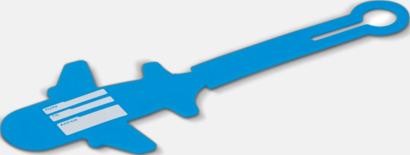 Baksida (blå) Bagagerickor formade som flygplan med reklamtryck