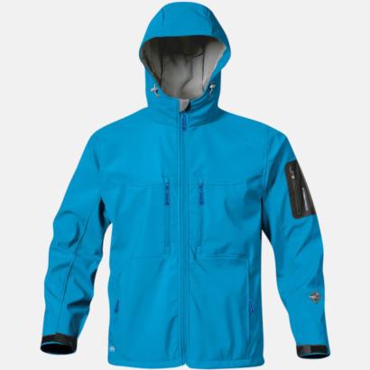 Electric Blue Riktigt fina soft shell jackor med reklamtryck