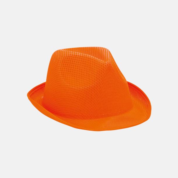 Orange (endast vuxen) Stilrena stetsonhattar med reklamtryck