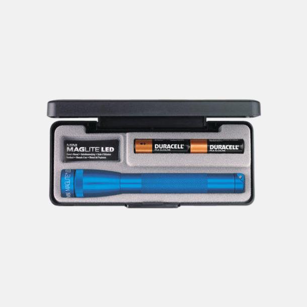 Blå Maglites Mini LED AA med reklamlogga
