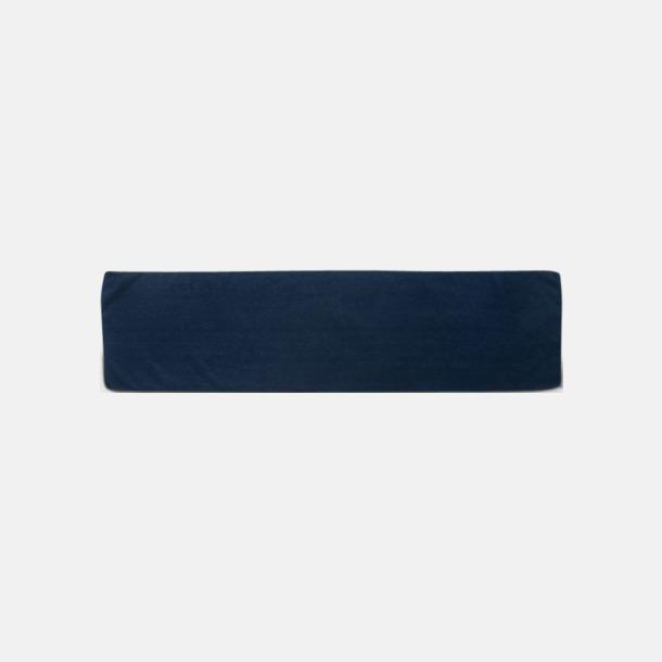 Marinblå (sporthandduk) Microfiber handdukar i 3 storlekar med reklambrodyr