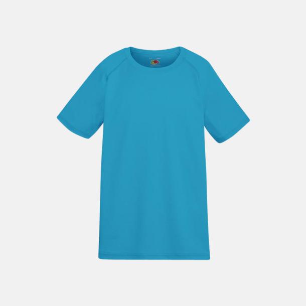 Azure Blue (barn) Funktionströjor för herr, dam och barn - med reklamtryck