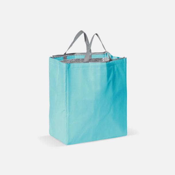 Ljusblå Kylväska i non woven-material med reklamtryck