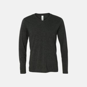 Långärmade V-neck t-shirts i unisexmodell med reklamtryck