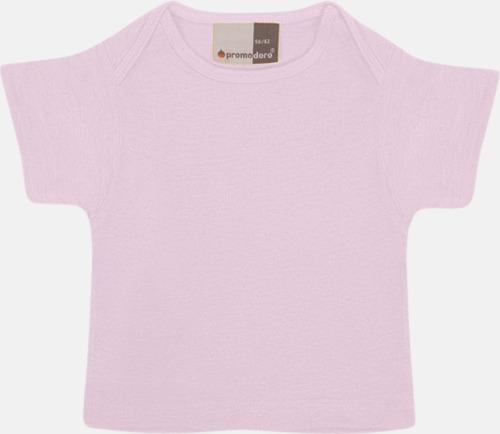 Chalk Pink T-shirts för de minsta barnen - med tryck