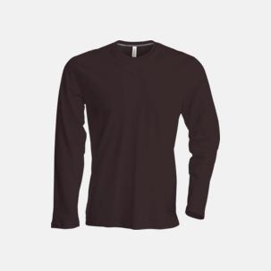Långärmad t-tröja med rundhals för herr och dam med reklamtryck