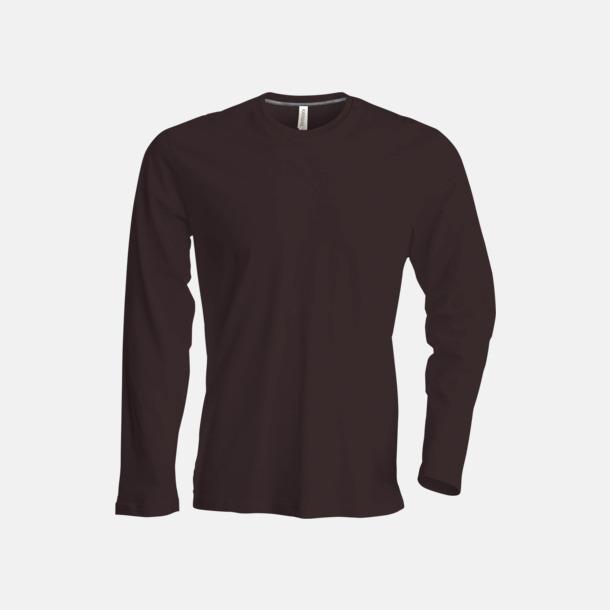 Chocolate (crewneck, herr) Långärmad t-tröja med rundhals för herr och dam med reklamtryck