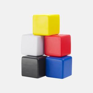 Kubformade stressbollar med reklamtryck
