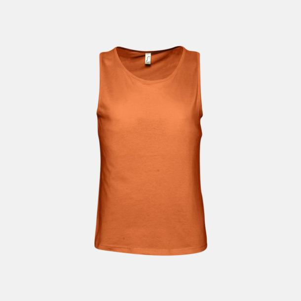 Orange (herr) Billiga linnen med tryck av egen logo