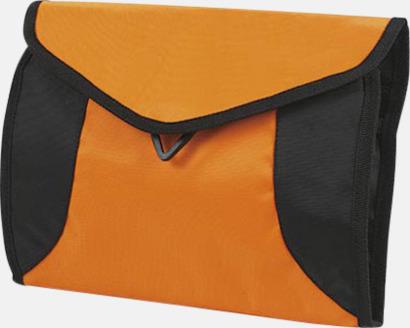 Orange Vikbara necessärer i flera färger - med reklamtryck
