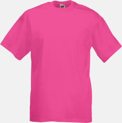 Fuchsia Valueweight t-shirt med tryck