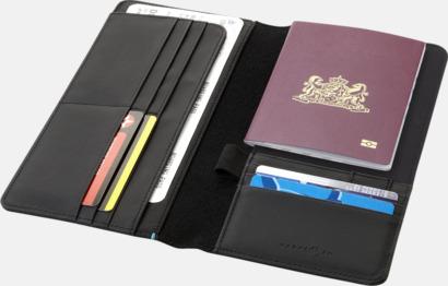 Reseplånbok för pass och pengar med reklamtryck