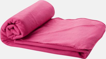 Magenta Fleecefilt och bag - med tryck