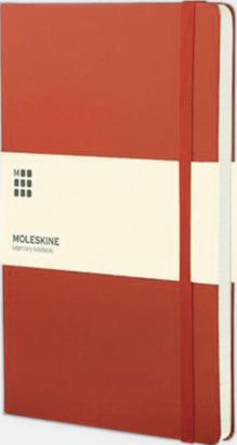 Geranium Red (squared) Moleskines mindre anteckningsböcker med linjerade eller rutade sidor - med reklamtryck