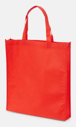 Röd Non wovenkassar med reklamtryck
