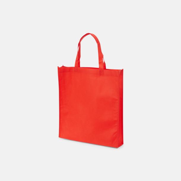 Röd (PMS 186) Non wovenkassar med reklamtryck
