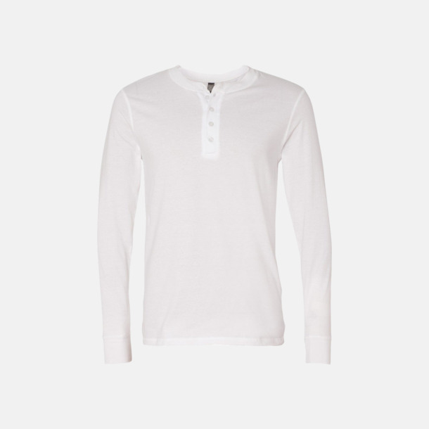 Vit Kraglösa piké t-shirts med reklamtryck