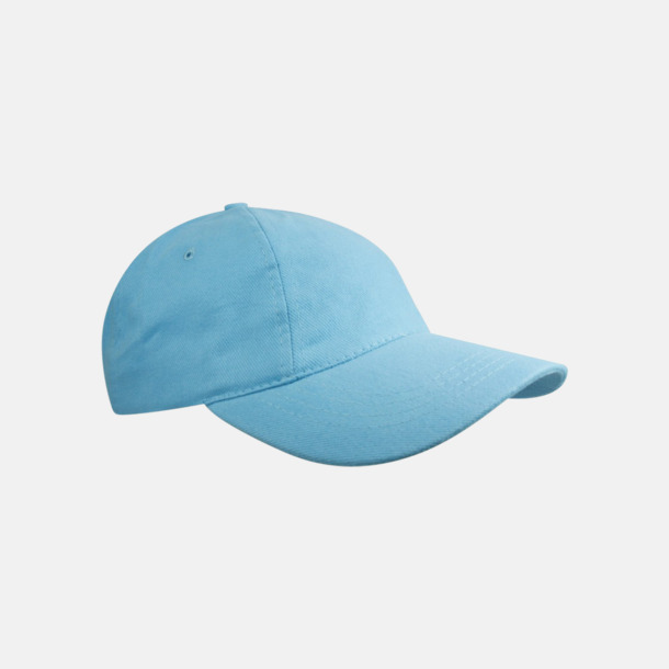 Ljusblå Sportiga kepsar med brodyr eller tryck