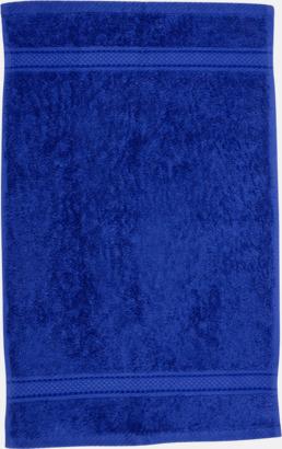 Royalblå Kvalitetshandduk med egen brodyr