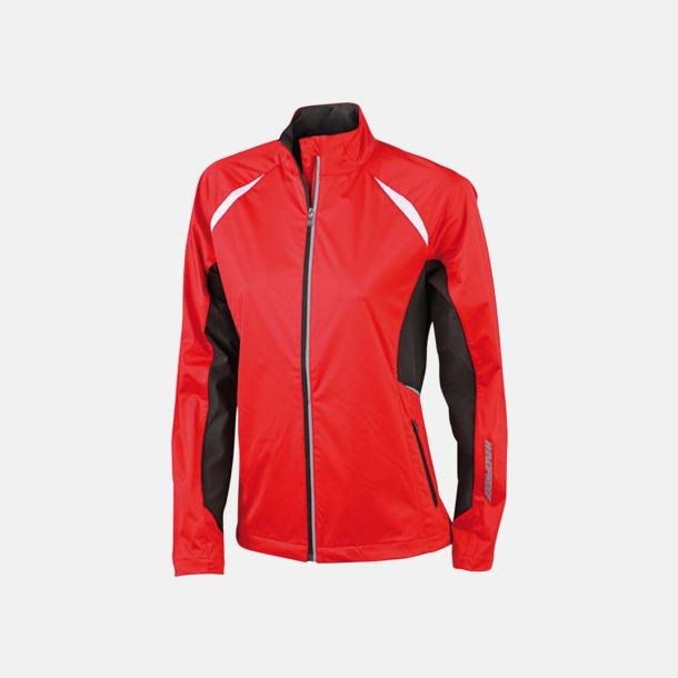 Röd / Svart Vindtäta jackor med eget tryck