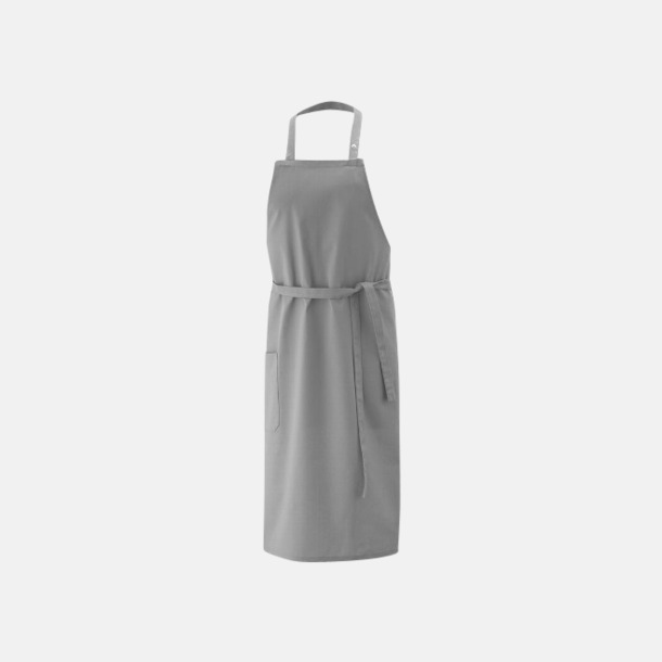 Silvergrå (bib 100 x 80 cm) Förkläden i 5 varianter med reklamtryck