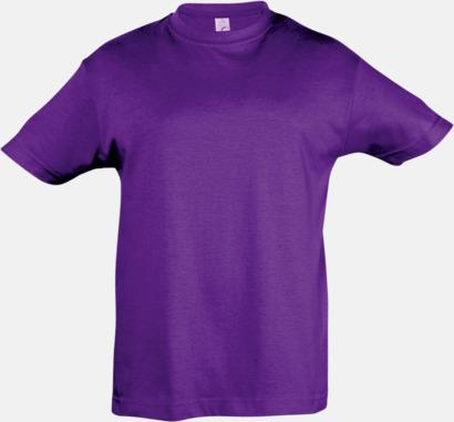Dark Purple Billig barn t-shirts i rmånga färger med reklamtryck