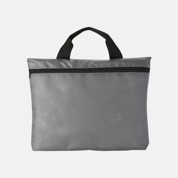Grå (PMS Cool grey 8C) Mappväskor A4  i non woven-material med reklamtryck