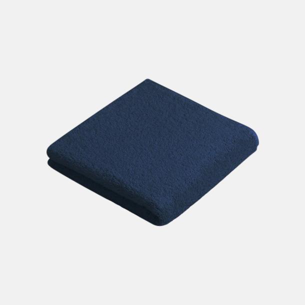 Mörkblå (50 x 100 cm) Mjuka bomullshanddukar i 5 storlekar med reklambrodyr