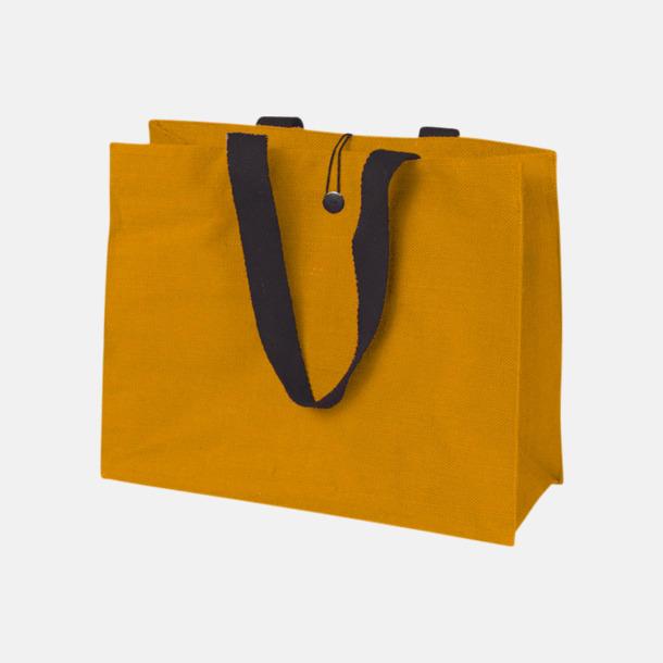 Orange (PMS 152) Stor jutebag med eget reklamtryck