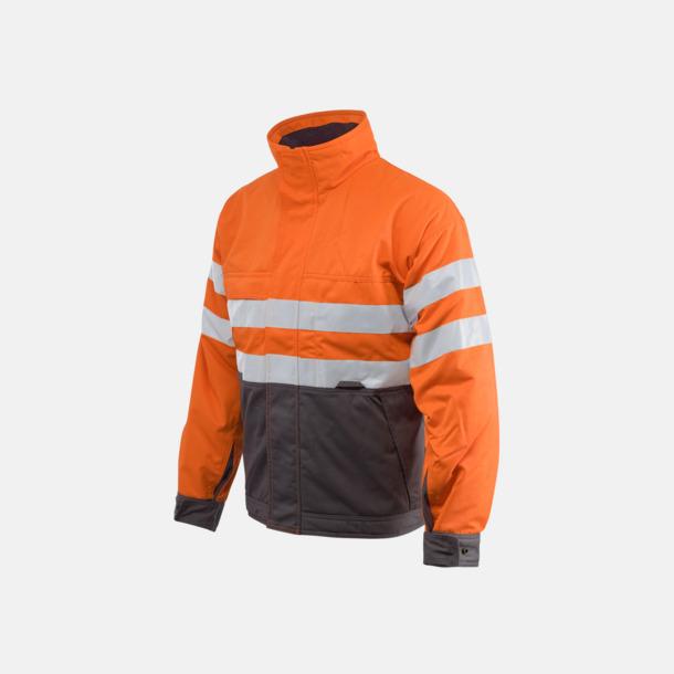 Orange Fodrad herrvarseljacka för yrkesbruk