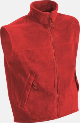 Röd Fleeceväst i herrmodell med egen brodyr