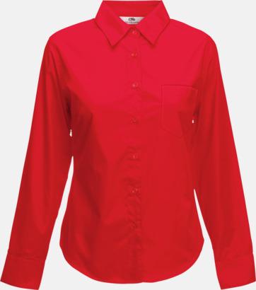 Röd Långärmade blusar med egen brodyr