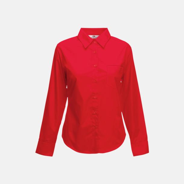Röd Långärmade blusar med egen reklambrodyr
