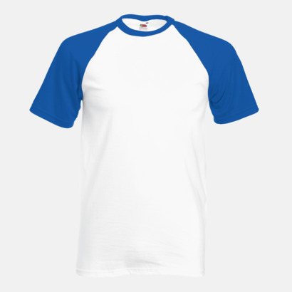 Vit/Royal Blue T-shirtar med reklamtryck