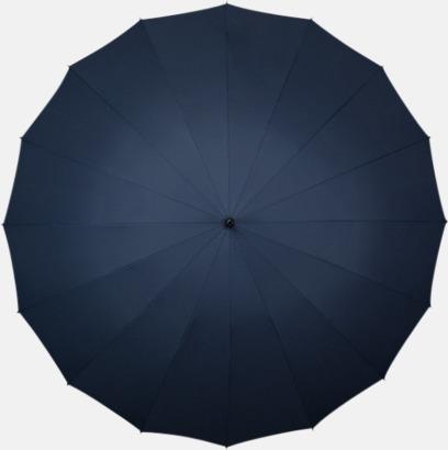 Marinblå (PMS 296C)  Stora Paraplyer med tryck