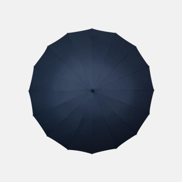 Marinblå (PMS 296C)  Stora paraplyer med reklamtryck