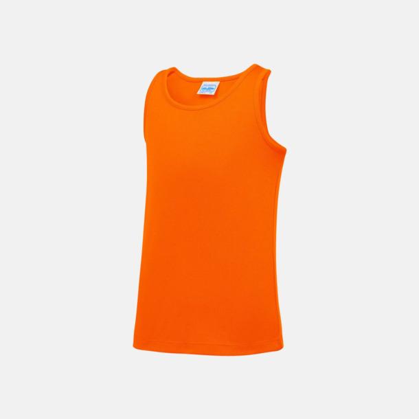 Electric Orange (barn) Enfärgade funktionslinnen i unisex-, dam & barnmodell med reklamtryck