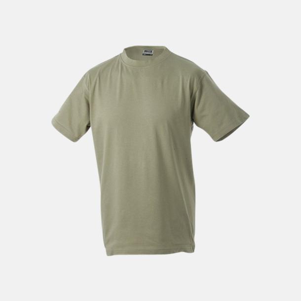 Khaki Barn t-shirtar av kvalitetsbomull med eget tryck