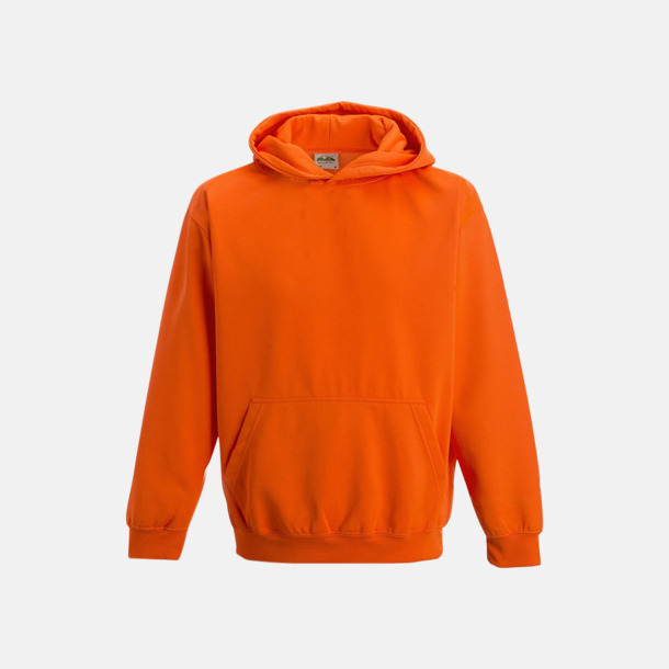 Electric Orange Huvtröjor för barn i neonfärger med reklamtryck